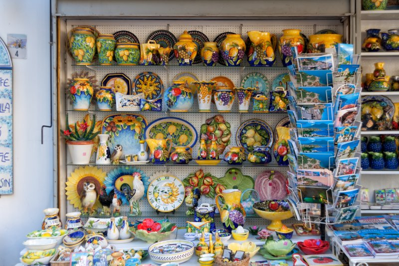 The Amalfi Coast Campania Italy Ceramics Shop